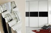 Belteholder – Front i svart og hvit glass  Supplier: Designa