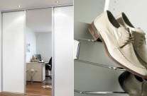 Vanl. speil og glatt hvit – skostativ med uttrekk  Supplier: Designa
